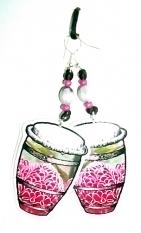 Boucles d orey tambou bele rose porcelaine