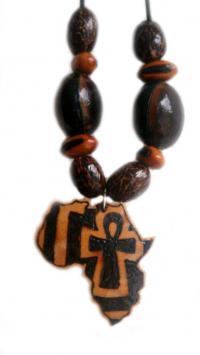 Coll pendentif afrikankh