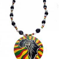 Collier symbole afrikan lutta